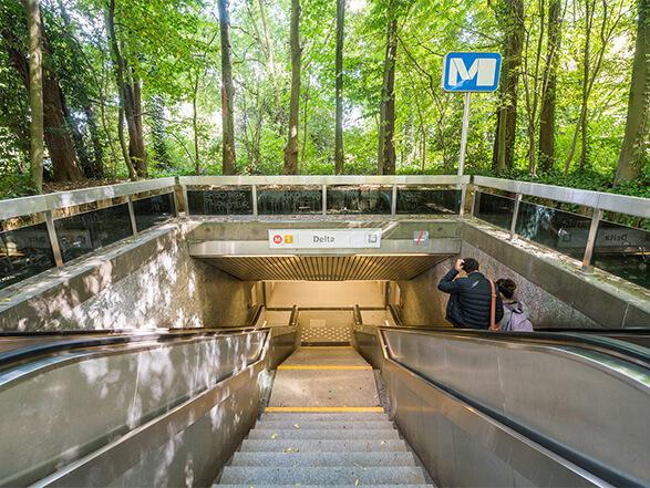 Metro halte Delta