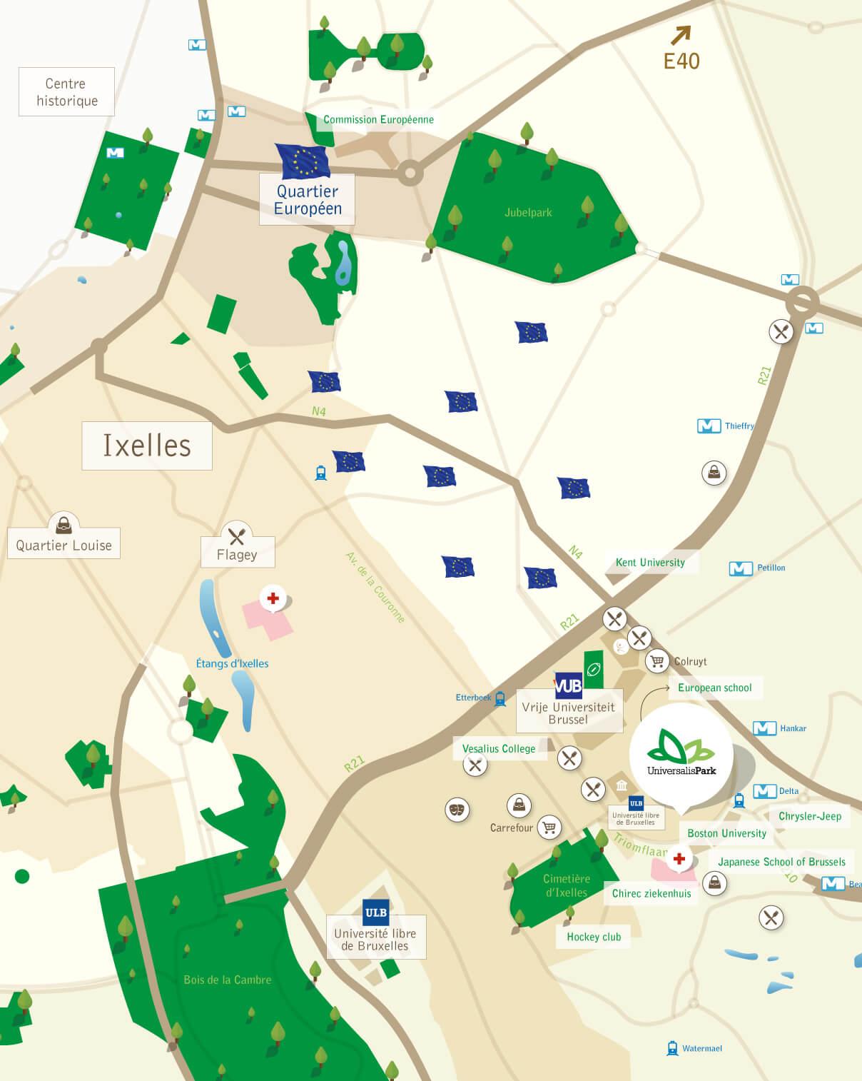 Universalis Park kaart
